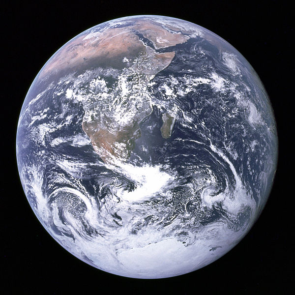 Earth Seen from Apollo 17 courtesy of Wikimedia